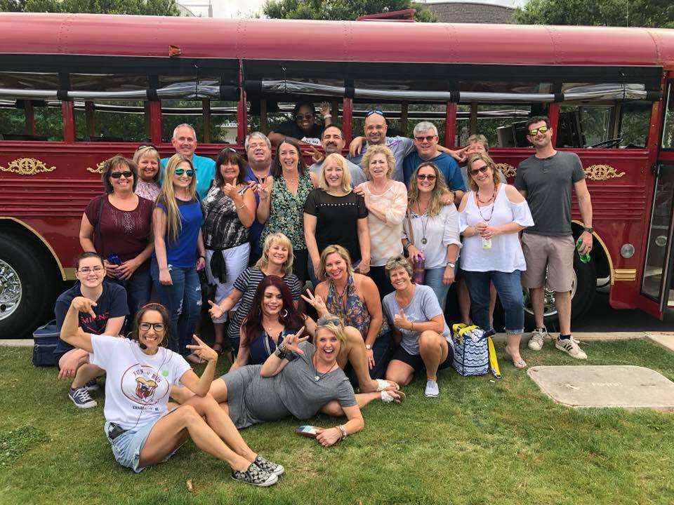 Team Building on the Funny Bus